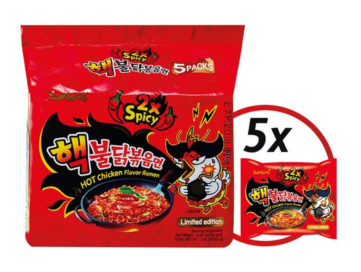 Hot chicken flavor ramen - Double Spicy 5x140g SAMYANG