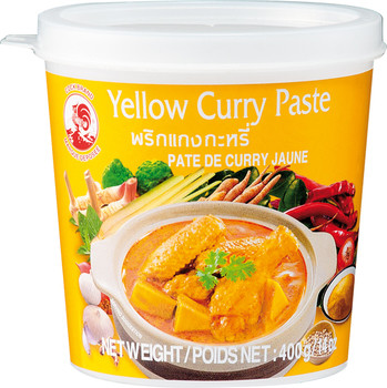Keltainen Curry-tahna 400g COCK BRAND